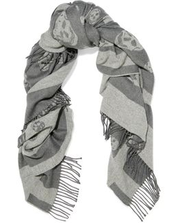 Reversible Intarsia Wool And Cashmere-blend Scarf