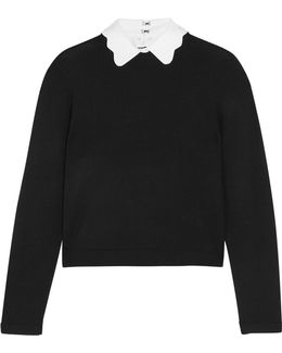Dia Scalloped-collar Wool-blend Sweater