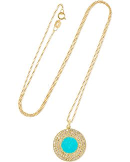 18-karat Gold, Turquoise And Diamond Necklace