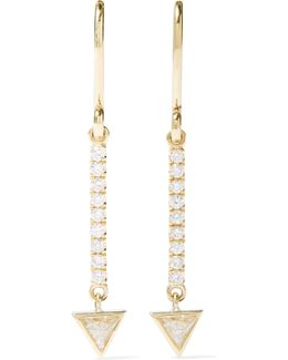 Mini Stick 18-karat Gold Diamond Earrings