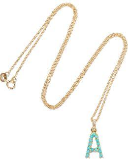 18-karat Gold, Diamond And Turquoise Necklace