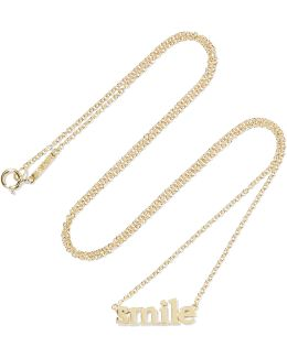 Smile 18-karat Gold Necklace