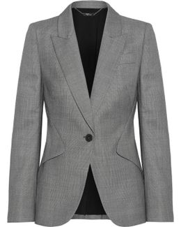 Wool-jacquard Blazer