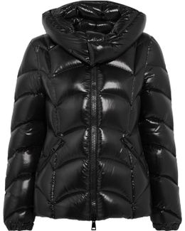 Akebia Quilted Patent-shell Down Jacket