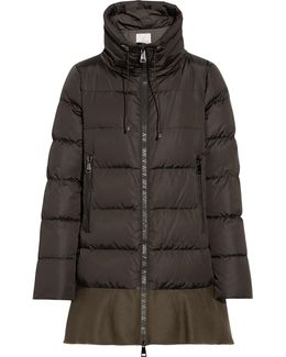 Viburnum Wool Blend-trimmed Quilted Down Coat