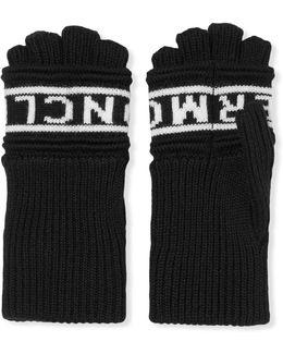 Intarsia Wool Fingerless Gloves