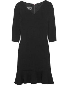 Stretch-knit Peplum Mini Dress
