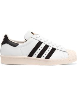 Superstar Suede-trimmed Leather Sneakers