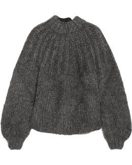 Julliard Open-back Mohair And Wool-blend Sweater