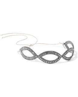Gunmetal-plated Swarovski Crystal Headband