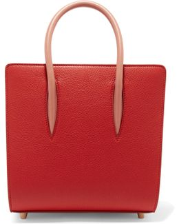 Paloma Small Studded Textured-leather Tote