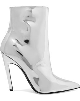 Mirrored-leather Ankle Boots