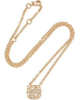 Nudo Solitaire 18-karat Rose Gold Diamond Necklace