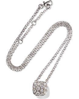 Nudo Solitaire 18-karat White And Rose Gold Diamond Necklace