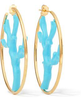 Capri Gold-plated Resin Hoops