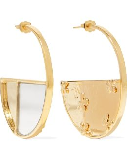 Bianca Gold-plated Mirrored Earrings