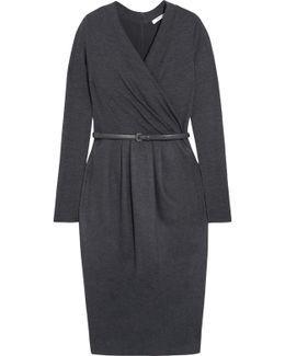Wrap-effect Wool-blend Dress