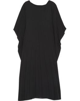 Plissé Chiffon Midi Dress