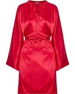 Silk-satin Midi Dress