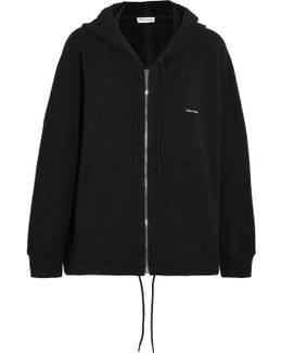 Cocoon Oversized Stretch-cotton Hoodie