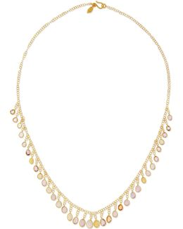 18-karat Gold Sapphire Necklace