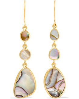 18-karat Gold Mother-of-pearl Earrings
