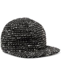 Darien Metallic Cotton-blend Tweed Baseball Cap