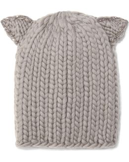 Felix Crystal-embellished Wool Beanie