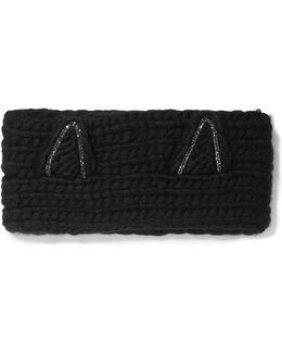 Kat Crystal-embellished Wool Headband