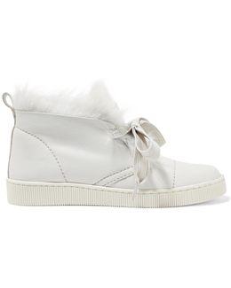 Parley Faux Fur-lined Nubuck High-top Sneakers