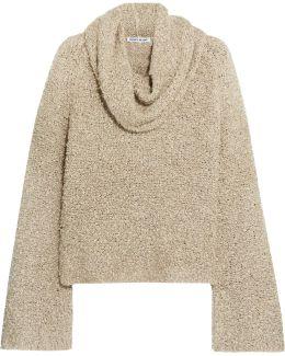 Sophie Draped Linen-blend Bouclé Sweater
