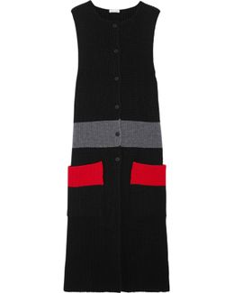 Color-block Ribbed Wool Tunic