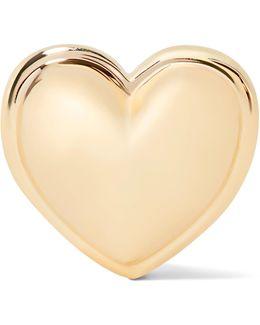 Heart 14-karat Gold Earring