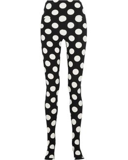 Polka-dot Stretch-jersey Leggings