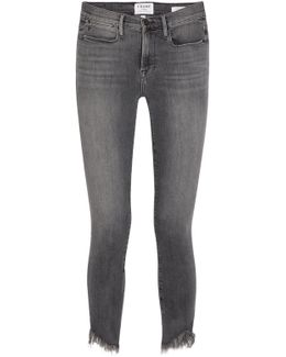 Le High Frayed Skinny Jeans