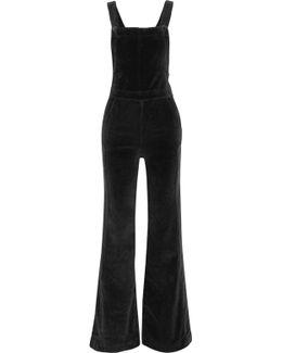 Le Velveteen Cotton-blend Velvet Jumpsuit