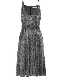 Plissé-lurex Dress