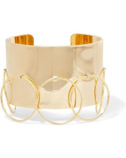 Halo Gold-plated Cuff