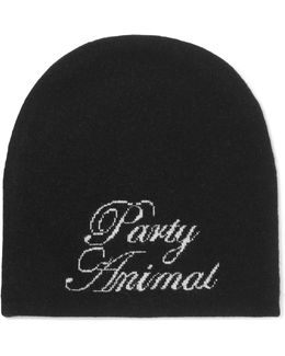 Party Animal Wool And Cashmere-blend Beanie