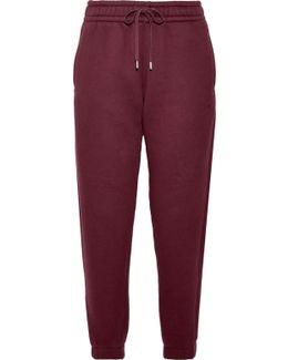 Cotton-blend Fleece Track Pants