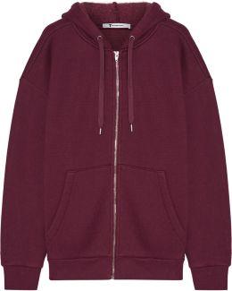 Dense Cotton-blend Fleece Hooded Sweater