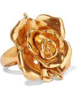 Rosette Gold-tone Ring