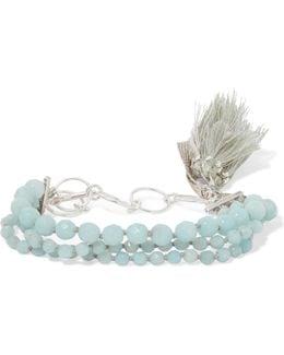 Tasseled Silver Amazonite Bracelet