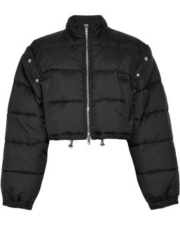Cropped Quilted Shell Jacket