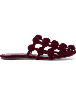Amelia Embellished Velvet Slippers