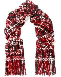 Linton Fringed Wool-blend Tweed Scarf
