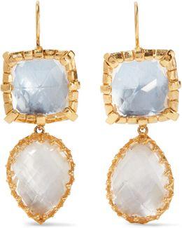 Sadie Gold-dipped Quartz Earrings