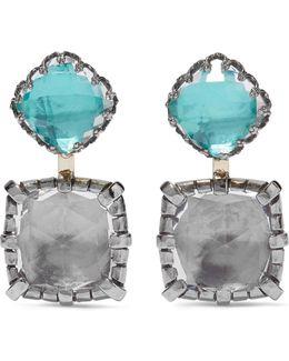 Sadie Rhodium-dipped Quartz Earrings