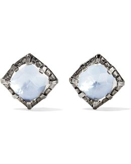 Bella Rhodium-dipped Quartz Earrings