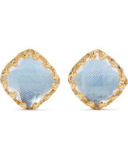 Jane Gold-dipped Quartz Earrings